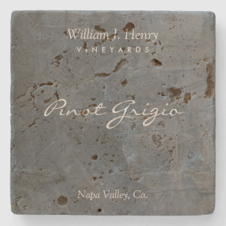 Customizable Slate Travertine Wine Coasters