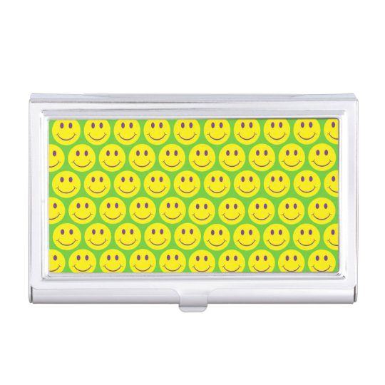 Customizable Smileys Case For Business Cards