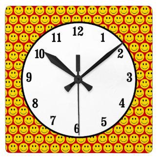 Customizable Smileys Square Wall Clock