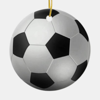 Customizable Soccer Ball Chirstmas Ceramic Ornament