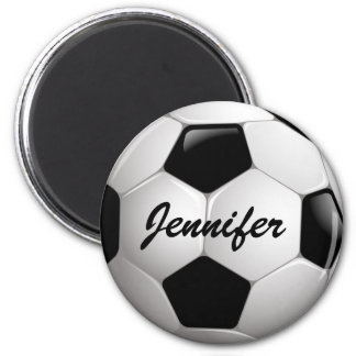 Customizable Soccer Ball Refrigerator Magnet