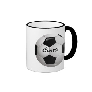 Customizable Soccer Ball Ringer Coffee Mug