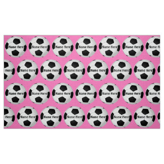 Customizable Soccer Fabric by the Yard NAME, COLOR