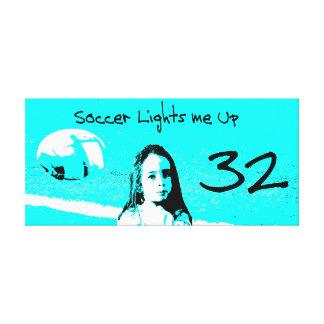 "Customizable ""Soccer Lights Me Up"" Artwork Canvas Print"