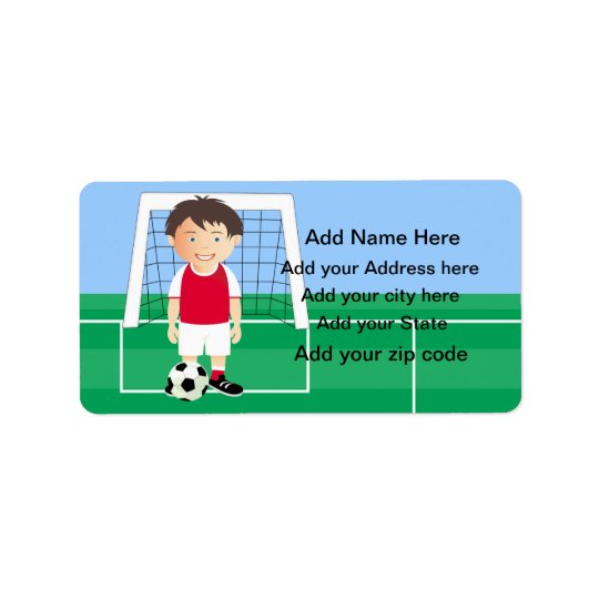 Customizable Soccer Player Label