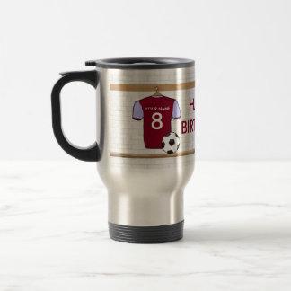 Customizable Soccer Shirt (claret) Birthday Mug