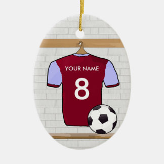 Customizable Soccer Shirt (claret)  Ornament