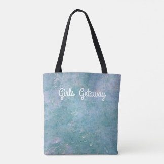 Customizable Soft Blue Pastel Girls Weekend Tote