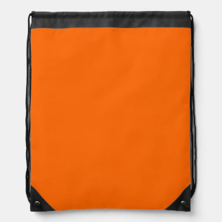Customizable Solid Orange Drawstring Bag