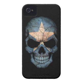 Customizable Somali Flag Skull Case-Mate iPhone 4 Cases