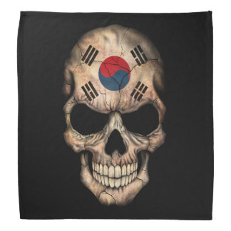 Customizable South Korean Flag Skull Bandana