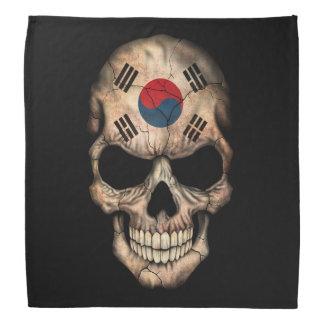 Customizable South Korean Flag Skull Head Kerchief