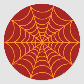 Customizable Spider Web Classic Round Sticker