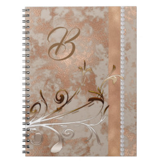 Customizable Spiral Notebook faux Rose Gold design