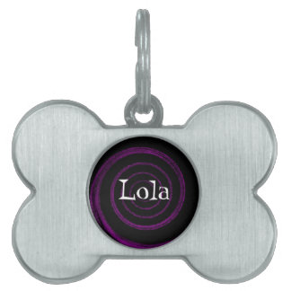 customizable spiral pet tag - Lola