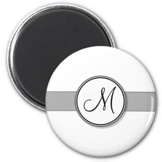 Customizable Split Monogram Seal Template 2 Inch Round Magnet
