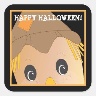 Customizable Spooky Scarecrow Halloween Sticker