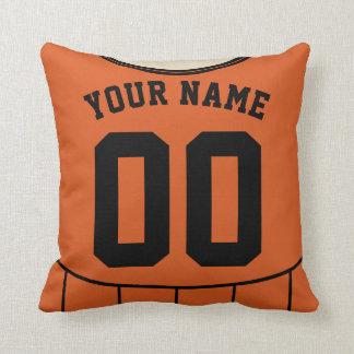 Customizable Sports Jersey Template Pillow, Soccer Throw Pillow