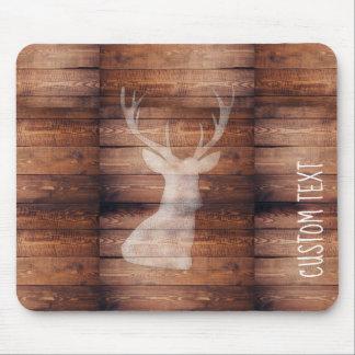 Customizable Spray Painted Deer on Wood Mousepad