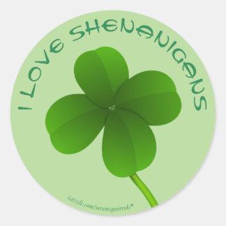 Customizable St. Patrick's Day Classic Round Sticker