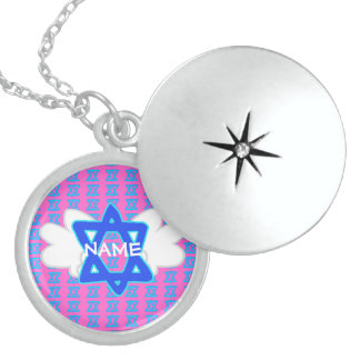 CUSTOMIZABLE Star of David locket necklace