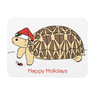 Customizable Star Tortoise Holiday Magnet