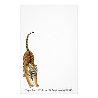Customizable Stretching Bengal Tiger Stationery