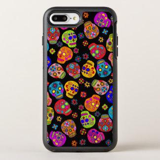 Customizable Sugar Skull Flowers OtterBox Symmetry iPhone 8 Plus/7 Plus Case