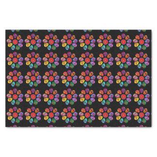 Customizable Sugar Skull Flowers Tissue Paper