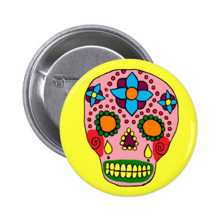 Customizable Sugar Skull Pin