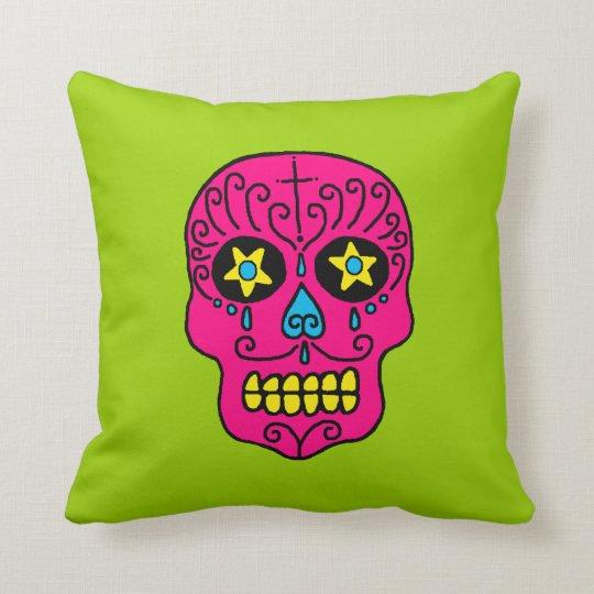 Customizable Sugar Skull Throw Pillow