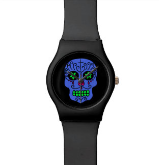 Customizable Sugar Skull Wrist Watch