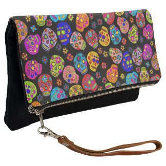Customizable Sugar Skulls Clutch