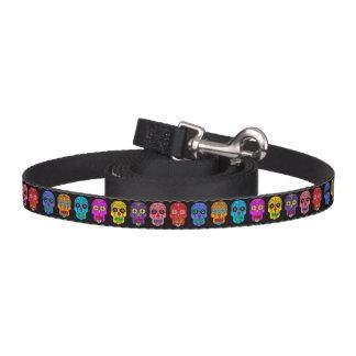 Customizable Sugar Skulls Dog Leash