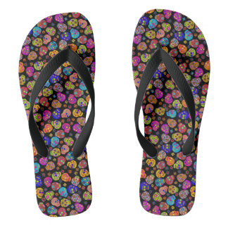 Customizable Sugar Skulls Flip Flops