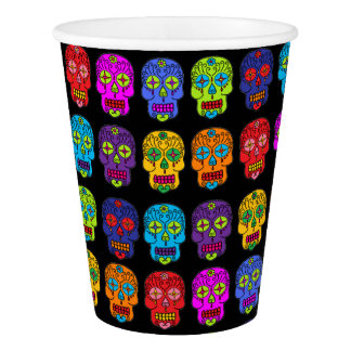 Customizable Sugar Skulls Paper Cup