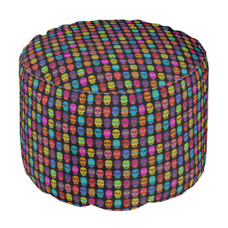 Customizable Sugar Skulls Pouf