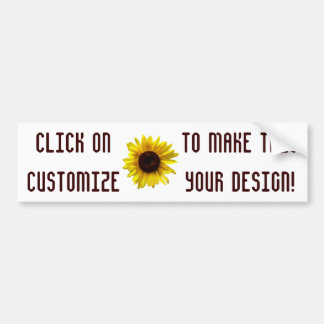 Customizable Sunflower Bumper Sticker