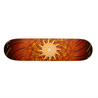 Customizable Sunset (Psychedelic spirograph) Skateboard Deck