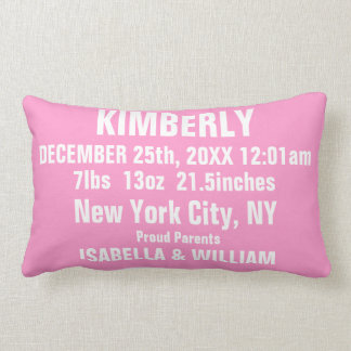 Customizable Super Cool Baby Girl Pillow (Pinky)