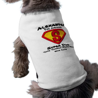 Customizable Super Dog T-Shirt Pet Clothing