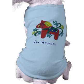 Customizable Swedish Dala Horse Pet Tshirt