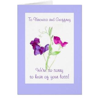 Customizable Sympathy Card - Sweet Peas