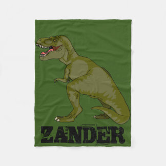 Customizable T-Rex Fleece Blanket