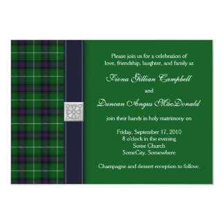 Customizable Tartan Celtic Wedding Invitation