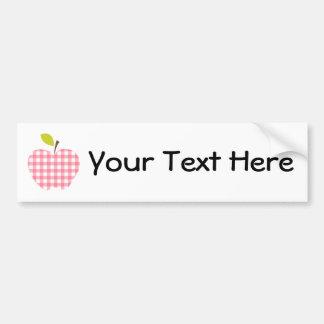 Customizable Teacher Apple Bumper Sticker