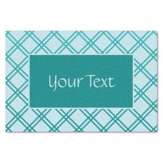 Customizable Teal and Light Aqua Lattice Design Tissue Paper