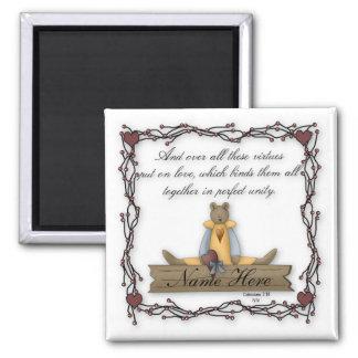 Customizable Teddy Bear Virtues Magnet 8