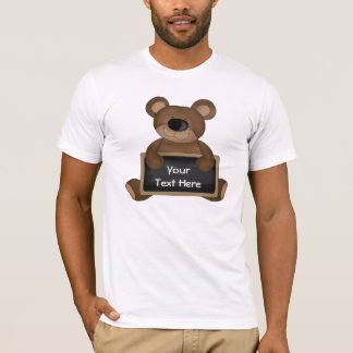 Customizable Teddybear Chalkboard T-Shirt