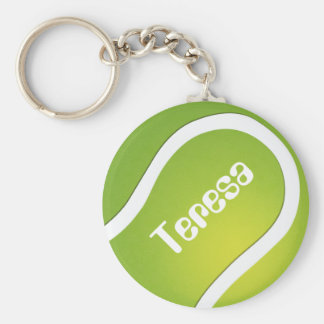 Customizable tennis sports ball key chain